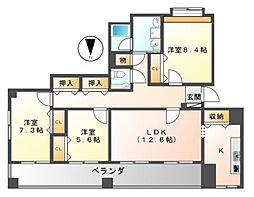 サンコーマンション2[7階]の間取り