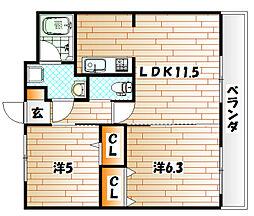 T−FLAT58[2階]の間取り