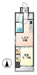 ドゥナーレ東別院[4階]の間取り