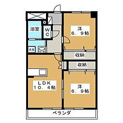 TNマンションV[4階]の間取り