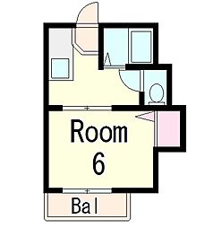 ルームコノミB[2階]の間取り
