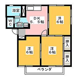 グレースハイツ B棟[2階]の間取り