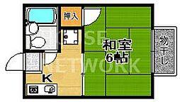 京都府京都市上京区常盤井図子町の賃貸アパートの間取り