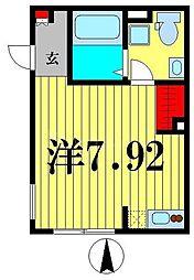 東京メトロ半蔵門線 住吉駅 徒歩5分の賃貸マンション 4階ワンルームの間取り