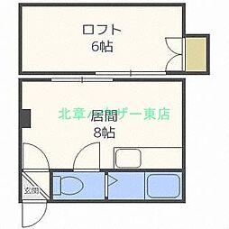 北海道札幌市東区北二十三条東13丁目の賃貸アパートの間取り
