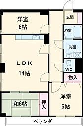 ニューライフ浜松II壱番館[404号室]の間取り