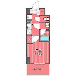 神奈川県横浜市西区西平沼町の賃貸マンションの間取り