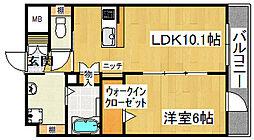 quatre Yoshida[3階]の間取り