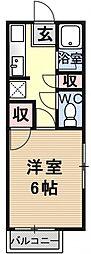 ハイツ澤田[208号室号室]の間取り