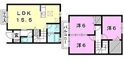 [テラスハウス] 愛媛県松山市和泉南3丁目 の賃貸【愛媛県 / 松山市】の間取り