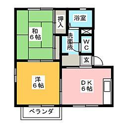 カーサ・コンフォート[2階]の間取り