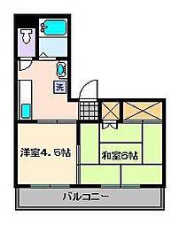 ラヴィータフォルトナ[4階]の間取り