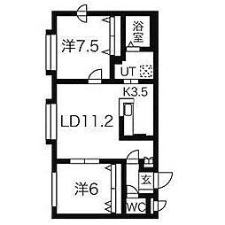 平岸アペリオ[2階]の間取り
