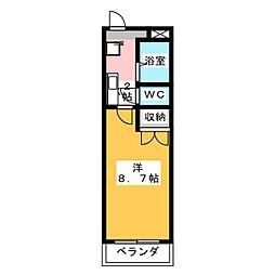 春里壱番館[2階]の間取り