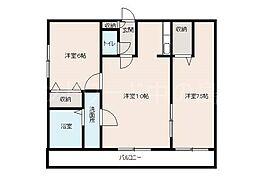北海道札幌市豊平区平岸一条12丁目の賃貸マンションの間取り