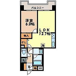 トーカンマンション天満町[603号室]の間取り