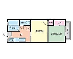 コスモAoi中田II[202号室]の間取り