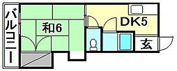 帝商不動産ビル[302 号室号室]の間取り