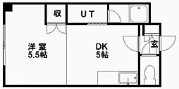 ドマーニ16[206号室]の間取り