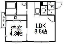 ディゾンネIII[1階]の間取り