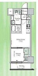 東京メトロ東西線 東陽町駅 徒歩23分の賃貸マンション 5階1DKの間取り