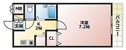 Jフラット[4階]の間取り