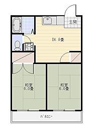 メゾン竜禅寺[305号室]の間取り