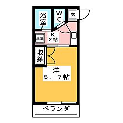 メゾンヤマト[1階]の間取り