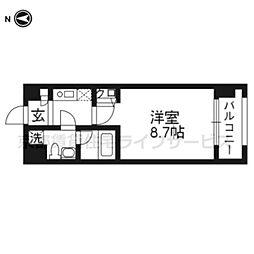 プレサンスNEO京都烏丸[10階]の間取り