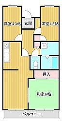 桜館3[1階]の間取り