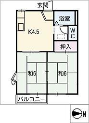 アーパスK[1階]の間取り