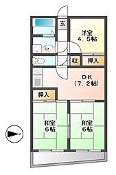 メゾン・ド・ベルコリーヌ[8階]の間取り