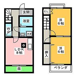 [テラスハウス] 愛知県岡崎市竜美南2丁目 の賃貸【愛知県 / 岡崎市】の間取り