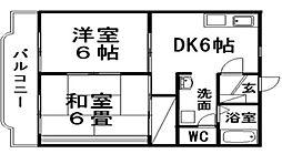 マンションアカツキ[4階]の間取り