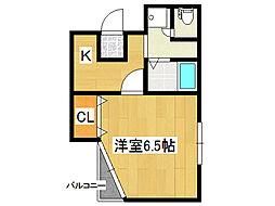 エスト勝山[2階]の間取り