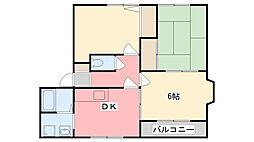 プリミエール国分寺[C201号室]の間取り