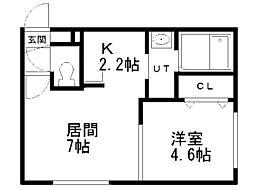 Y's札幌[401号室]の間取り