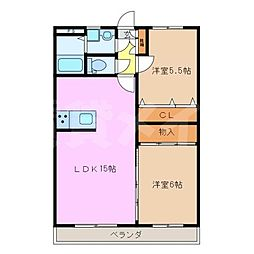 COMFORT鴻之台[5階]の間取り