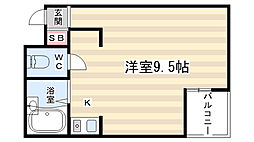 サーティフル新二条[406号室]の間取り