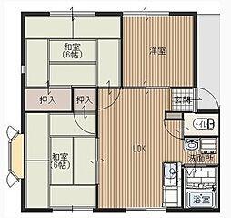 サンハイツ新井C[1階]の間取り