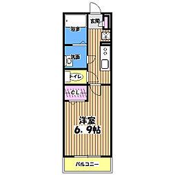 リブリ・エスクード[1階]の間取り