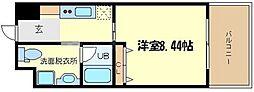 ベルファース立売堀[3階]の間取り