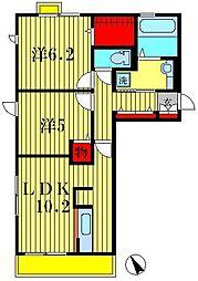 エスペランサ[2階]の間取り