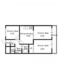 ニューパレスマンション[1階]の間取り