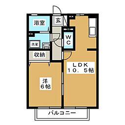 フローラ三園[2階]の間取り