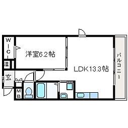 PGM長澤(ピージーエム長澤)[2階]の間取り