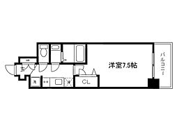 Osaka Metro中央線 堺筋本町駅 徒歩5分の賃貸マンション 8階1Kの間取り