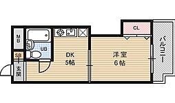 シティコート新大阪[8階]の間取り