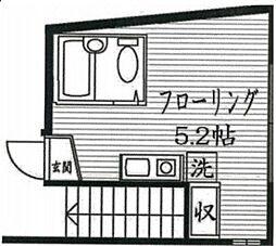 東京都品川区二葉1丁目の賃貸アパートの間取り