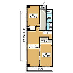 sawarabi御所[4階]の間取り